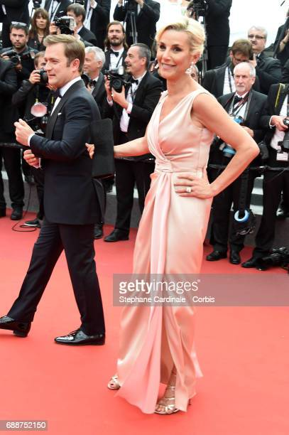 Renaud Capucon and Laurence Ferrari attend the 'Amant Double ' premiere during the 70th annual Cannes Film Festival at Palais des Festivals on May 26...
