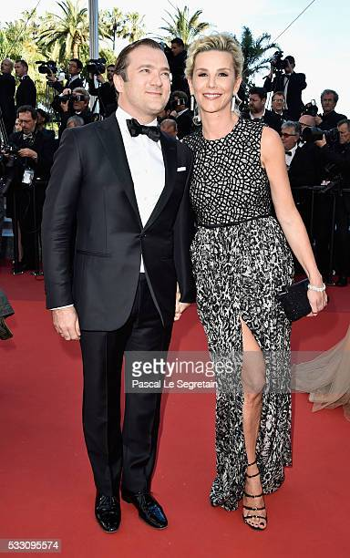Renaud Capucon and Laurence Ferrari attend The Last Face Premiere during the 69th annual Cannes Film Festival at the Palais des Festivals on May 20...