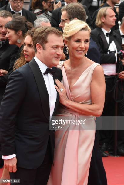 Renaud Capucon and TV presenter Laurence Ferrari attend 'Amant Double ' Red Carpet Arrivals during the 70th annual Cannes Film Festival at Palais des...