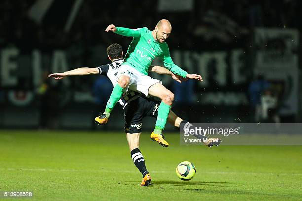 Renaud Cohade of Saint Etienne during the French Ligue 1 match between Angers SCO v AS SaintEtienne at Stade JeanBouin on March 5 2016 in Angers...