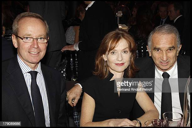 Renaud Donnedieu De Vabres Isabelle Huppert Alain Terzian at The Dior Jewellry Boutique Party at Place Vendome In Paris