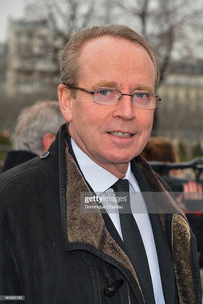 Renaud Donnedieu de Vabres poses as he arrives at the Christian Dior Fall/Winter 2013 Ready-to-Wear show as part of Paris Fashion Week on March 1, 2013 in Paris, France.