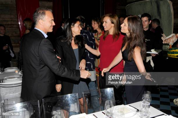 Renaud Dutreil Charlotte Sarkozy Inga Rubenstein and Yana Balan attend Dom Perignon and Vito Schnabel dinner in celebration of Terence Koh's book...