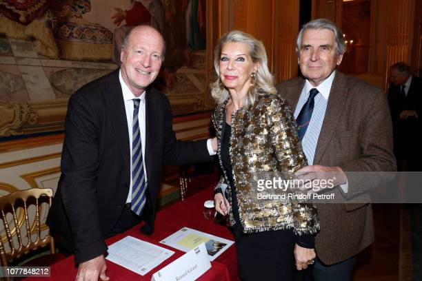 Renaud Girard Baron Gilles Ameil and his wife Baroness Eva Ameil attend 'Le Cercle des Lettres The Circle of Letters' at Cercle de l'Union Interallie...