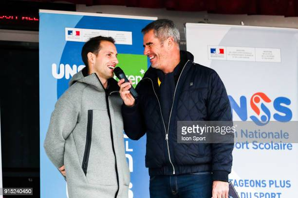 Renaud Lavillenie and Marc Maury during the National Cross of UNSS in Blagnac France on 20th January 2018