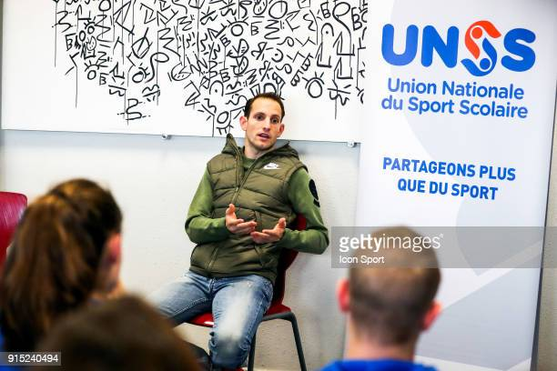 Renaud Lavillenie during the National Cross of UNSS in Blagnac France on 20th January 2018