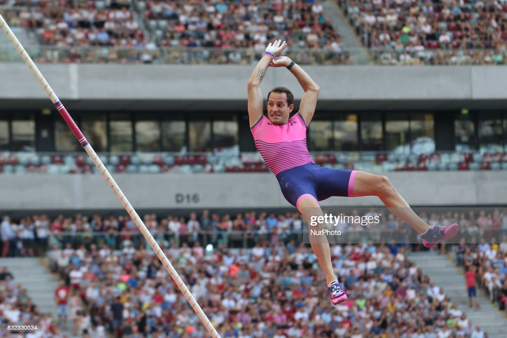 Renaud Lavillenie (FRA), in action during the 5th Kamila Skolimowska Memorial of athletics in Warsaw, Poland, on 15 August, 2017.