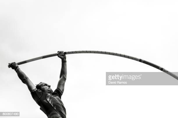 Renaud Lavillenie of France competes in the Men's Pole Vault Final during day three of the European Athletics Team Championships at the Lille...