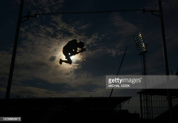 Renaud Lavillenie of France from Team Europe competes during the Pole Vault Men race at the IAAF Continental Cup on September 9 2018 in Ostrava