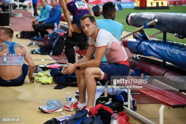 Renaud Lavillenie of France men's pole vault during the IAAF Diamond League Meeting Herculis on July 21, 2017 in Monaco, Monaco.