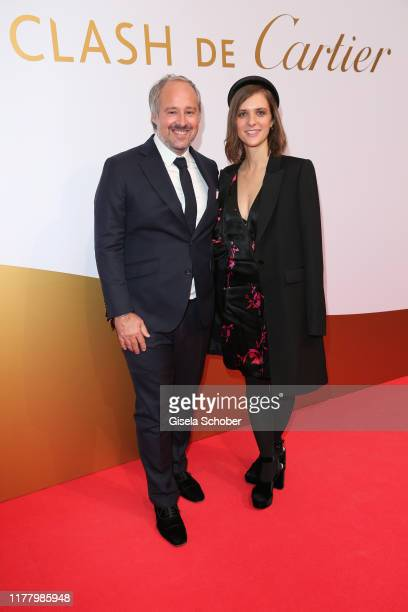 Renaud Lestringant Managing Director Cartier Northern Europe and Liv Lisa Fries during the Clash de Cartier The Opera event at Eisbachstudios on...