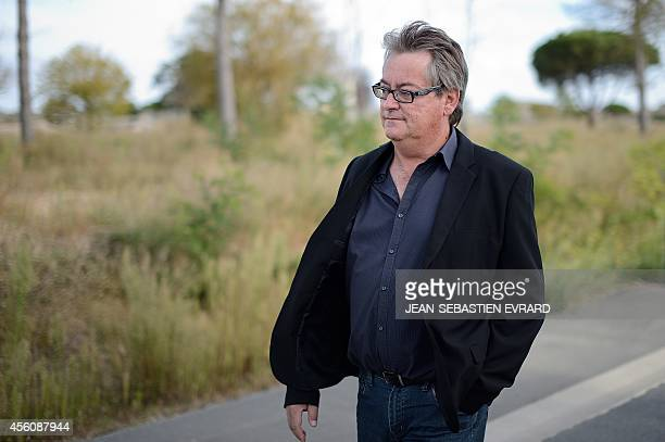 Renaud Pinoit president of an association of victims walks along a lane on September 25 2014 as the court of Les Sables d'Olonne moves to a day of...