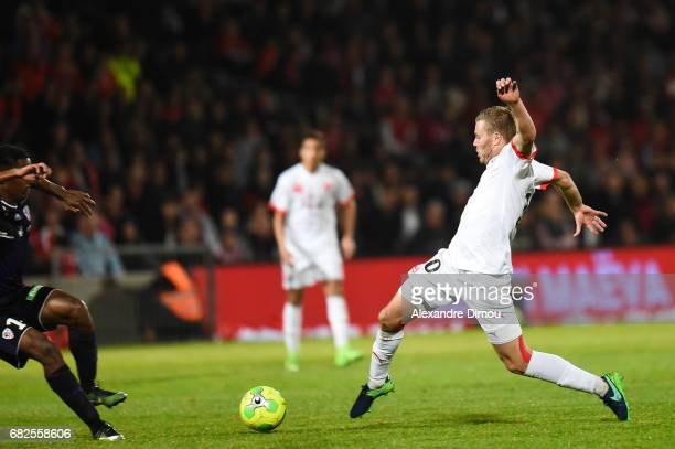 Renaud Ripart of Nimes during the Ligue 2 match between Nimes Olympique and AC Ajaccio on May 12 2017 in Nimes France