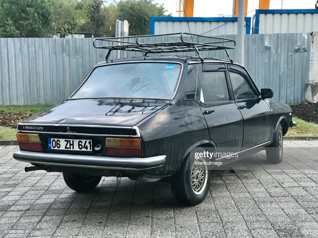 Renault 12 gts old car parking in the street : Stock Photo