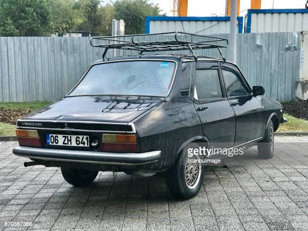 Renault 12 gts old car parking in the street