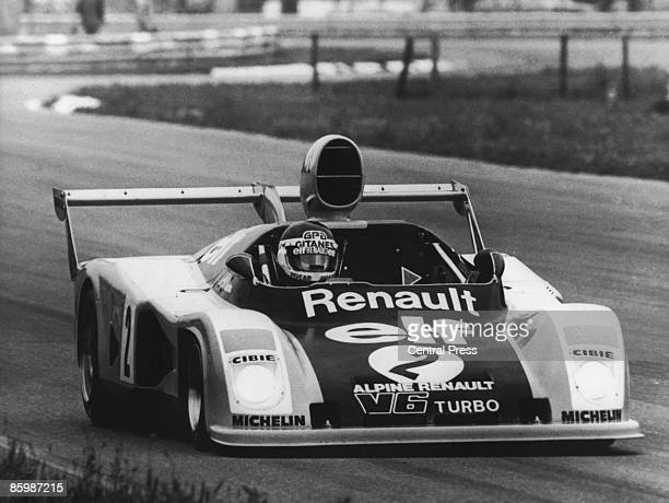 A Renault Alpine A442 of the Renault Sport team in practice for the 24 Hours of Le Mans France 9th June 1976 The turbocharged car will be driven by...