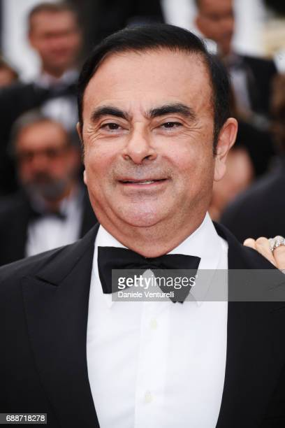 Renault CEO Carlos Ghosn attends 'Amant Double ' Red Carpet Arrivals during the 70th annual Cannes Film Festival at Palais des Festivals on May 26...