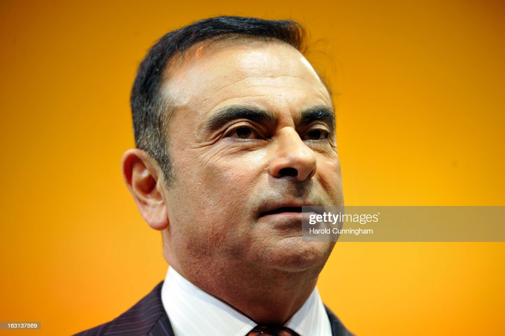 Renault CEO Carlos Ghosn looks on during the 83rd Geneva Motor Show on March 5, 2013 in Geneva, Switzerland. Held annually the Geneva Motor Show is one of the world's five most important auto shows with this year's event due to unveil more than 130 new products.