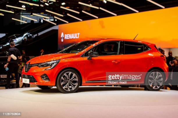 Renault Clio is displayed during the first press day at the 89th Geneva International Motor Show on March 5 2019 in Geneva Switzerland