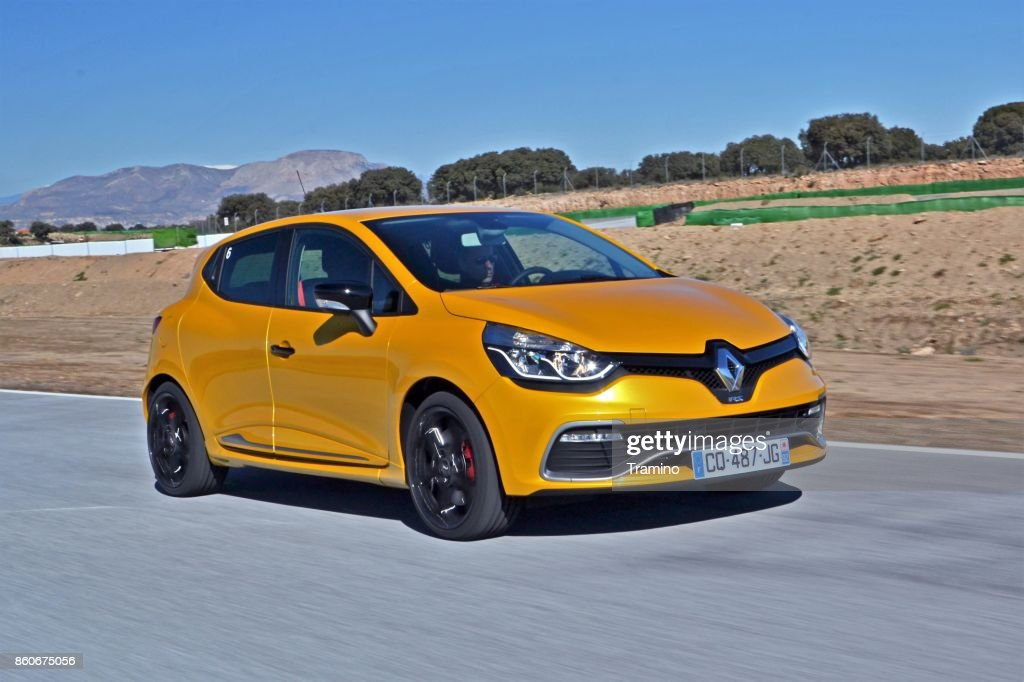 Renault Clio RS on the highway : Stock Photo