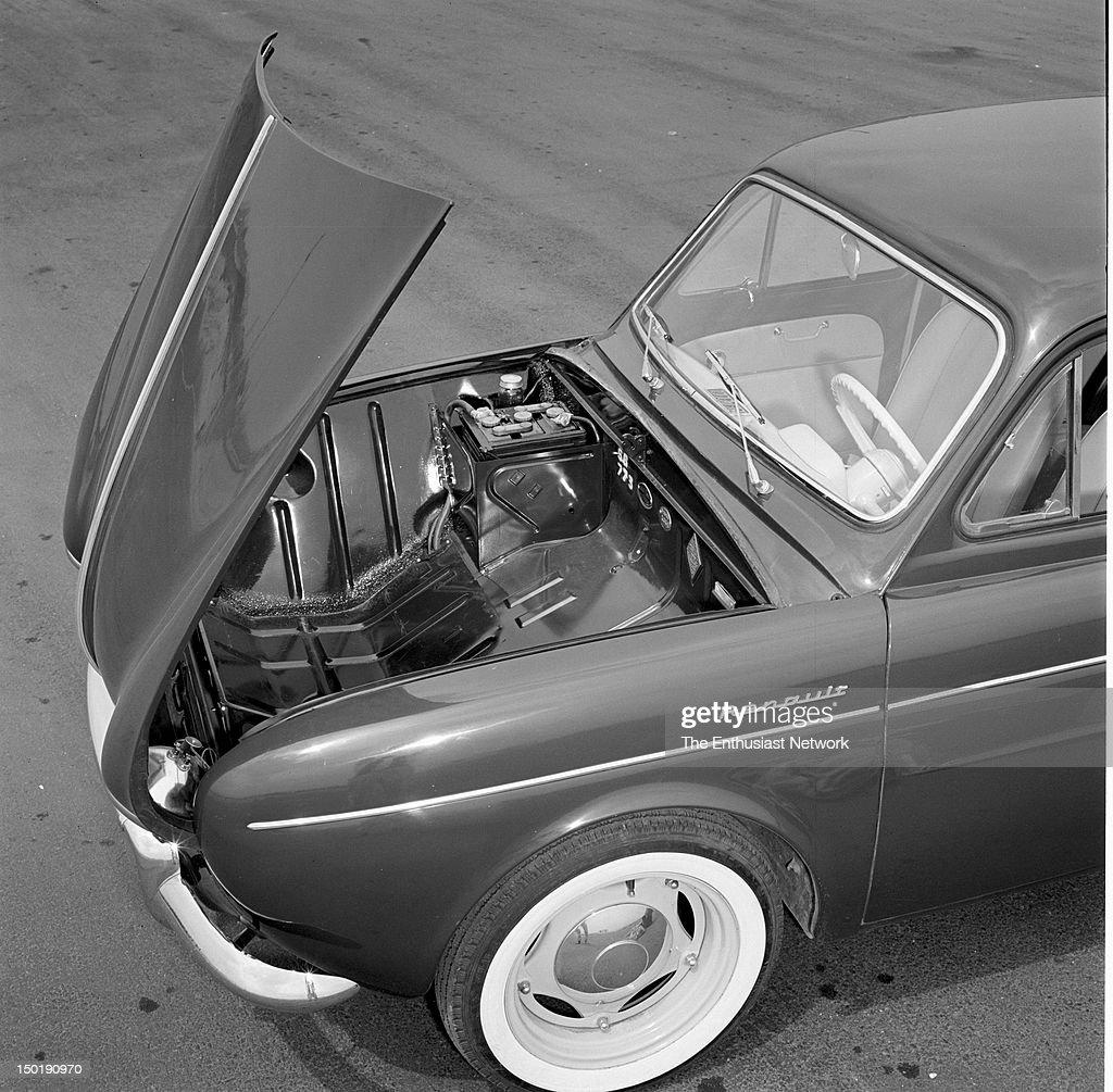 Retort to the VW  New Imports story Motor Trend September 1956  Hood