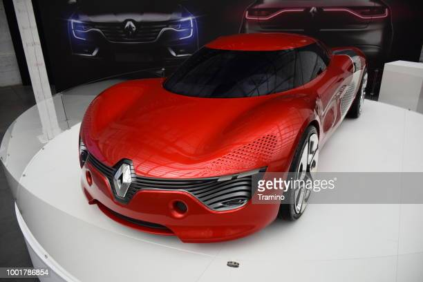 renault dezir on the exposition - car show stock pictures, royalty-free photos & images