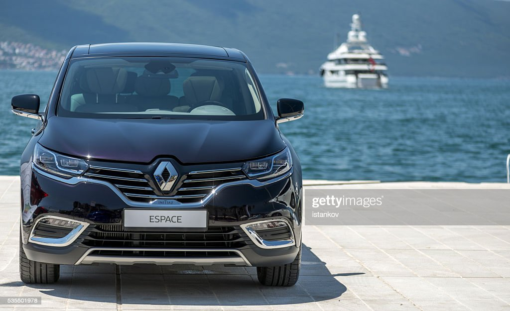 Renault Espace 2016 at pier : Stock Photo