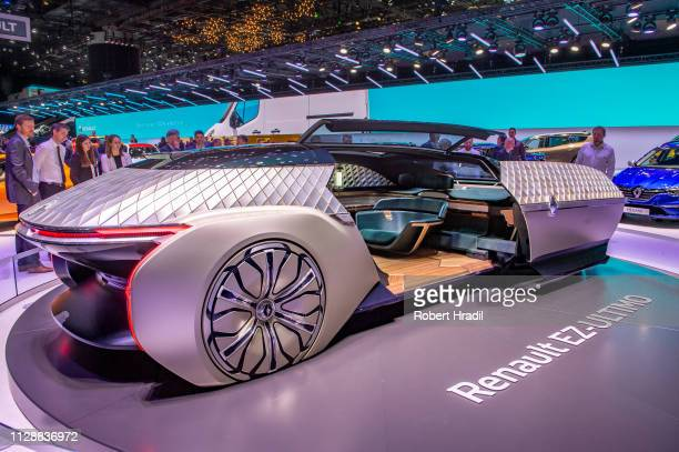 Renault EZ-Ultimo is displayed during the second press day at the 89th Geneva International Motor Show on March 6, 2019 in Geneva, Switzerland.