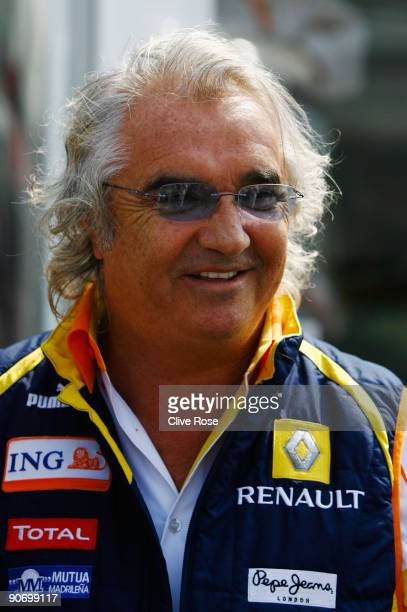 Renault F1 Team Principal Flavio Briatore is seen in the paddock during the Italian Formula One Grand Prix at the Autodromo Nazionale di Monza on...