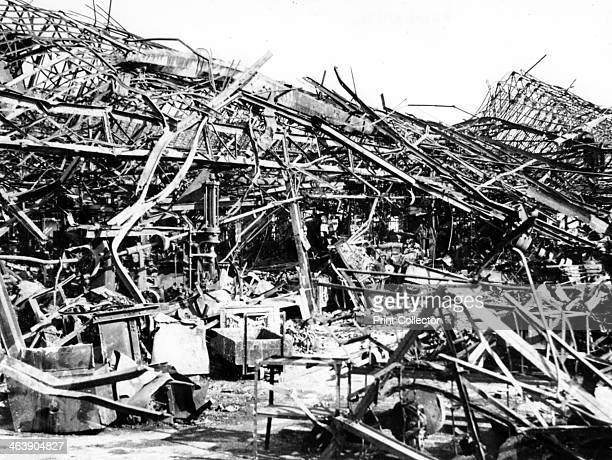 Renault factory destroyed by Allied bombing Sevres near Paris 19401944