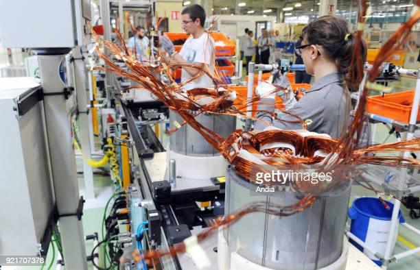 Renault factory in Cleon on Production line of the R240 electric motors mainly for Renault ZOE