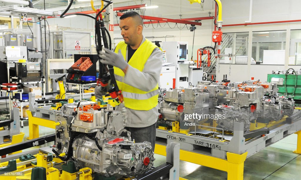 Production line of the R240 electric motors. : News Photo
