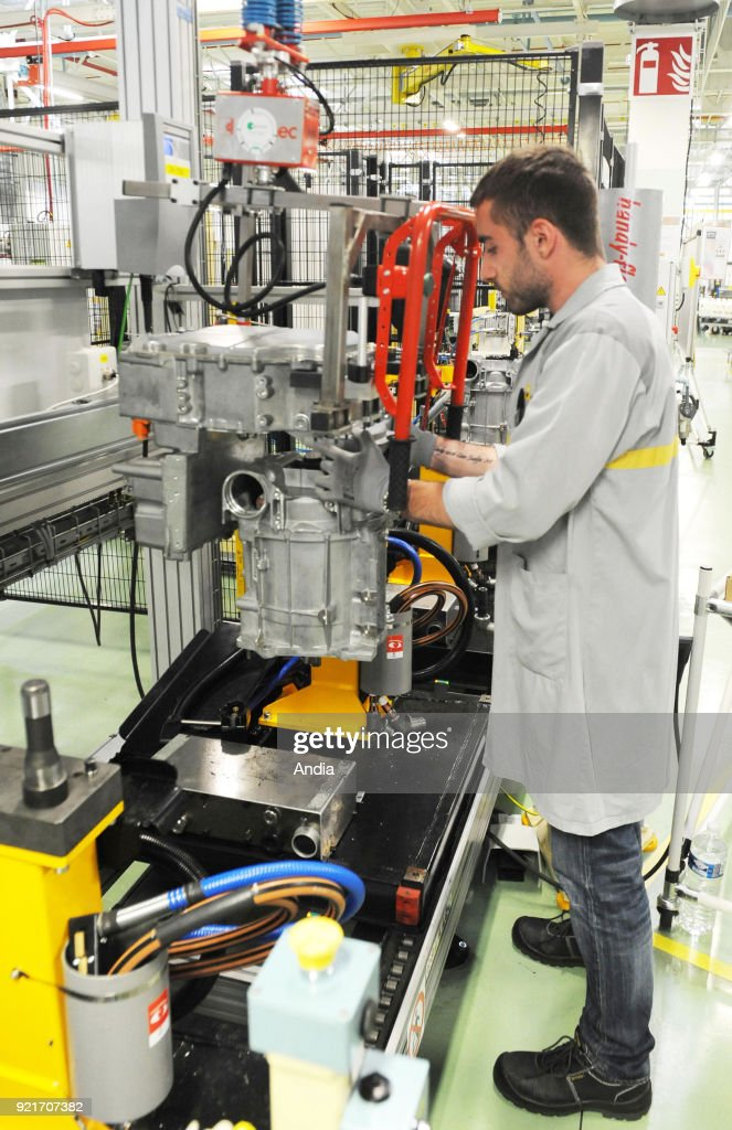 Renault factory in Cleon, on . Production line of the R240 electric motors mainly for Renault ZOE (reproduction rights ok).