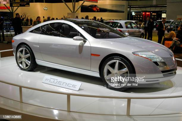 Renault Fleunce 2+2 concept coupé concept car on display at Amsterdam motor show AutoRAI on February 9, 2005 in Amsterdam, The Netherlands.