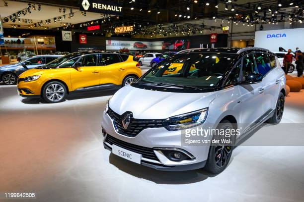 Renault Grand Scénic and Scenic compact multipurpose vehicle on display at Brussels Expo on January 9 2020 in Brussels Belgium The Scenic IV is...