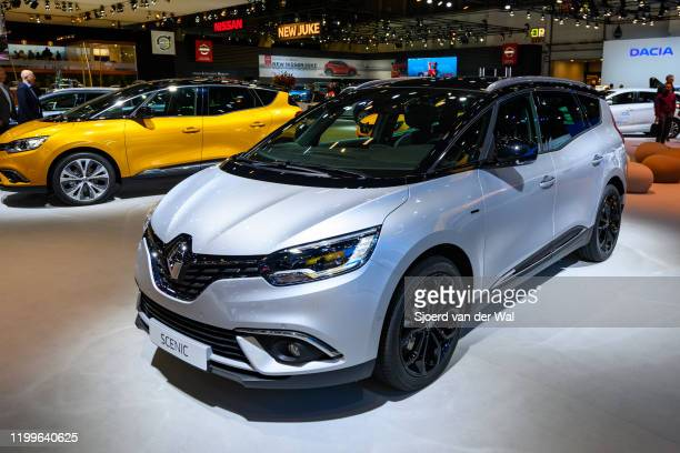 Renault Grand Scénic compact multipurpose vehicle on display at Brussels Expo on January 9 2020 in Brussels Belgium The Scenic IV is available with...