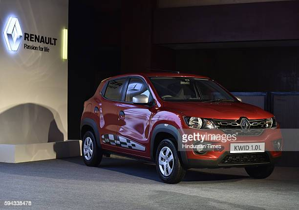 Renault launches Kwid with 10L Smart Control Efficiency Engine on August 22 2016 in New Delhi India