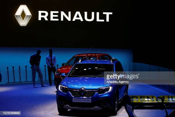 0f0312725617e0 Renault logo is seen at the 2018 Moscow International Motor Show at the  Crocus Expo exhibition