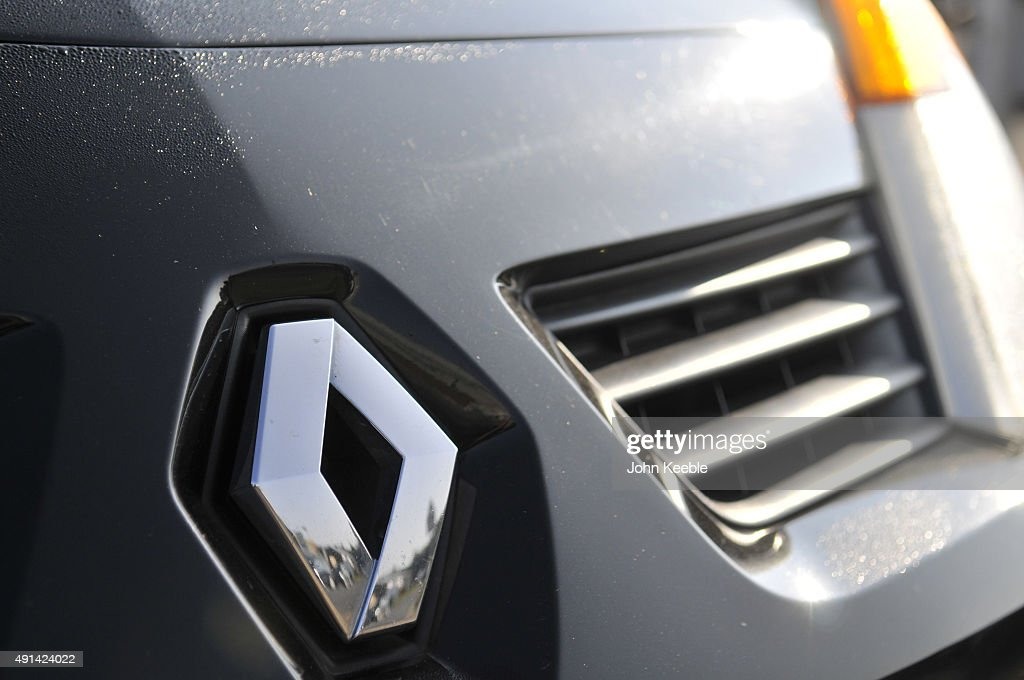 Renault logo radiator badge is pictured on October 4, 2015 in Southend on Sea, England.