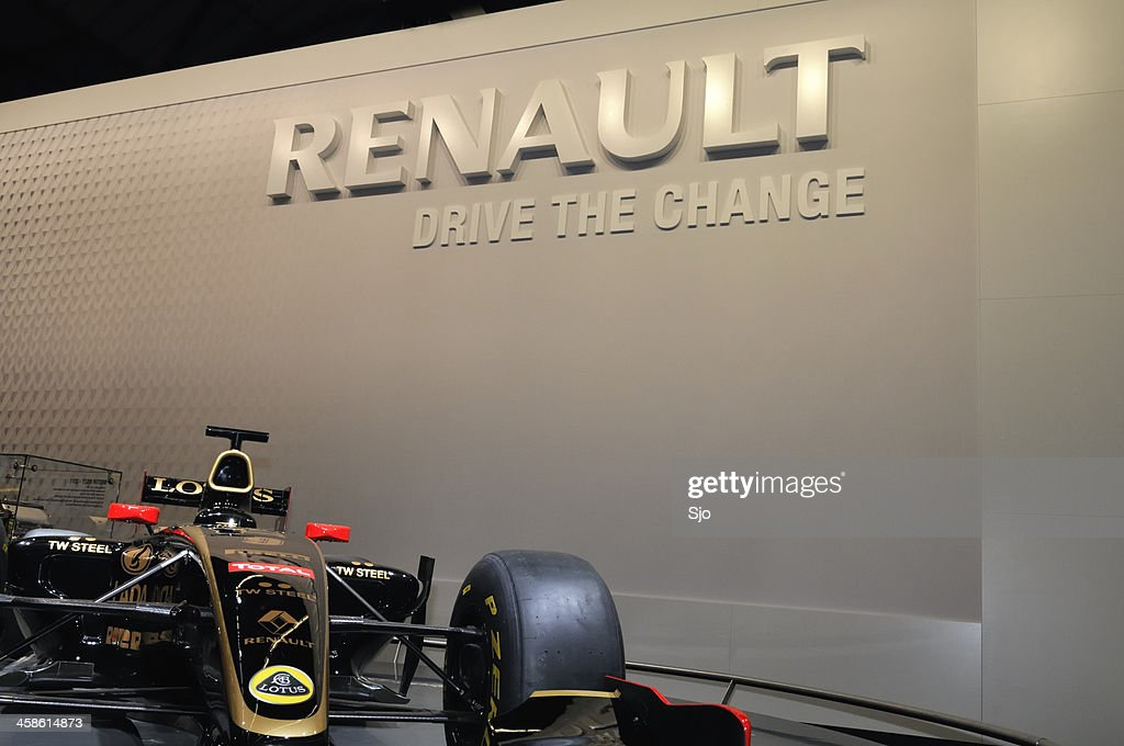 Renault Lotus F1 race car at a motor show : Stock Photo