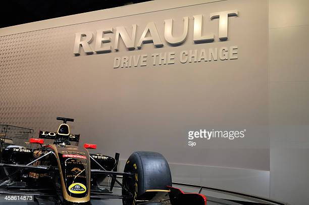 Renault Lotus F1 race car at a motor show