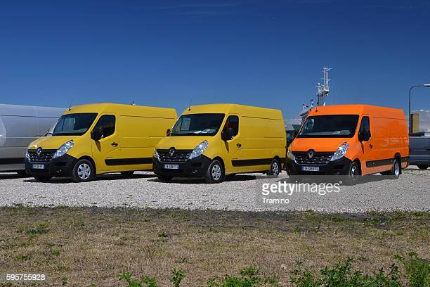 Renault Master vans on the parking