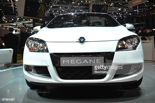 A Renault Megane automobile is seen on the first press day of the Geneva International Motor Show in Geneva Switzerland on Tuesday March 2 2010 The...