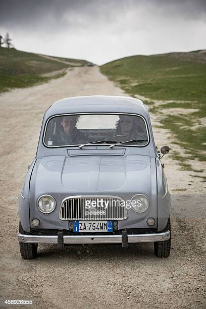 renault r4 vintage classic car - renault 4 stock photos and pictures