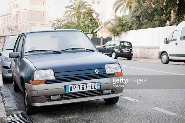 renault r5 parked on street in france - renault stock pictures, royalty-free photos & images