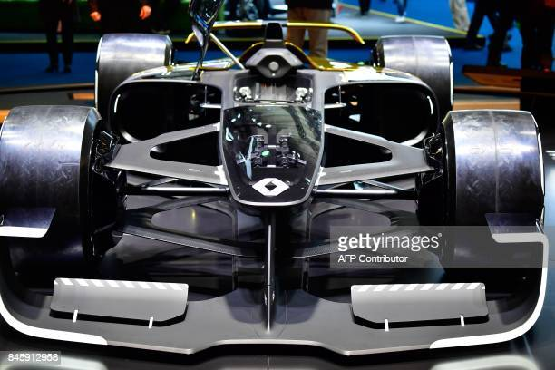 A Renault RS 2027 Vision Formula 1 concept racing car is seen at the Internationale Automobil Ausstellung auto show on September 12 2017 in Frankfurt...