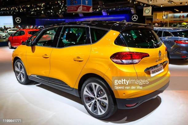 Renault Scénic compact multi-purpose vehicle on display at Brussels Expo on January 9, 2020 in Brussels, Belgium. The Scenic IV is available with...