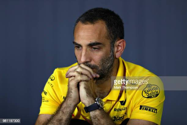 Renault Sport F1 Managing Director Cyril Abiteboul in the Team Principals Press Conference during practice for the Formula One Grand Prix of France...