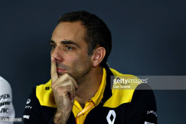 Renault Sport F1 Managing Director Cyril Abiteboul talks in the Team Principals Press Conference during practice for the F1 Grand Prix of Azerbaijan...