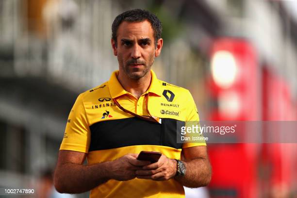 Renault Sport F1 Managing Director Cyril Abiteboul walks in the Paddock after practice for the Formula One Grand Prix of Germany at Hockenheimring on...